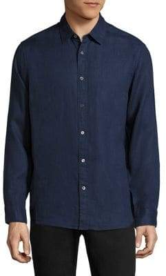 Michael Kors Regular-Fit Linen Shirt