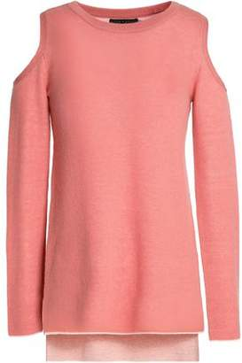 Alice + Olivia Wade Cold-Shoulder Wool And Cashmere-Blend Tunic