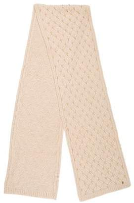 Tory Burch Faux Pearl-Embellished Wool Scarf