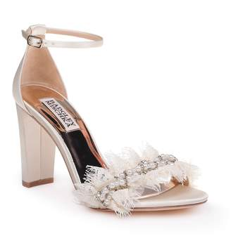 557bd300f3b Badgley Mischka White Ankle Strap Sandals For Women - ShopStyle Canada