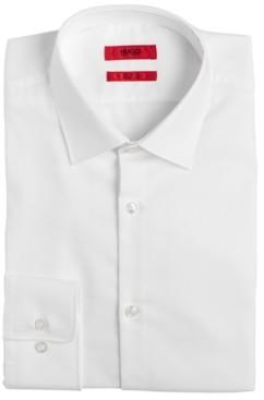 HUGO BOSS Hugo Men's Slim-Fit White Solid Dress Shirt
