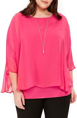 Evans Overlay Top with Necklace