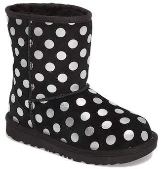 UGG Classic Metallic Dot UGGpureTM Lined Boot (Little Kid & Big Kid)