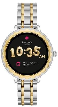 Kate Spade Scallop Two-Tone Touchscreen Bracelet Smart Watch, 41mm