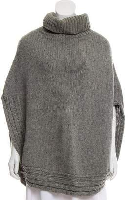 Gucci Cable Knit Turtleneck Poncho