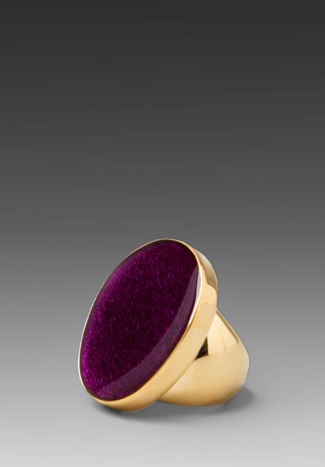 Kenneth Jay Lane Stone Gold Ring