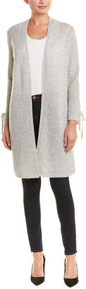 InCashmere Tie-Sleeve Wool & Cashmere-Blend Cardigan