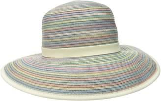 San Diego Hat Company Women's Mixed Braid Adjustable Face Saver Sun Brim Hat