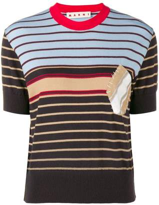 Marni striped fine knit top