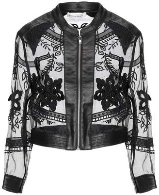 a104b4df1 Leather Jacket With Collar Detail - ShopStyle UK