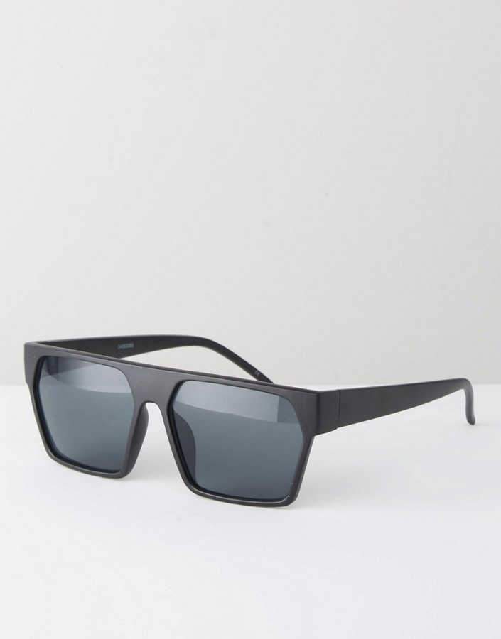 ASOS BRAND ASOS Geometric Sunglasses In Black