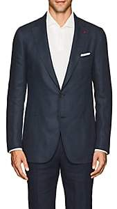 Isaia Men's Dustin Linen Two-Button Sportcoat - Navy