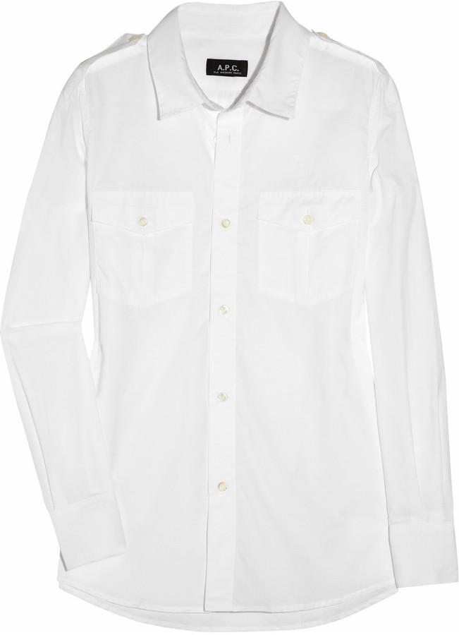 A.P.C. Military cotton shirt