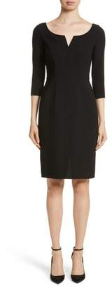 Carmen Marc Valvo Couture Double Face Wool Crepe Cocktail Dress