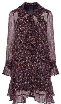 Anna Sui Printed Ruffled Crepe De Chine Dress