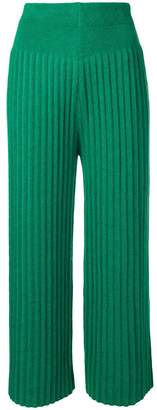 Kenzo cropped pleat trousers