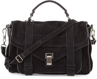 Proenza Schouler PS1 Medium Suede Satchel Bag