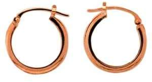 Lord & Taylor 14K Rose Gold Hoops
