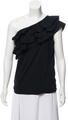 Ralph Lauren Ruffle-Accented One-Shoulder Top