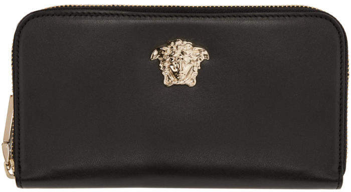 Versace Black Medusa Continental Wallet
