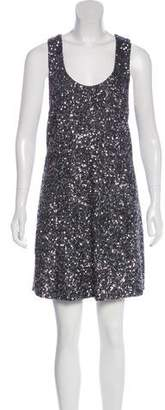 Alice + Olivia Sequin-Accented Mini Dress