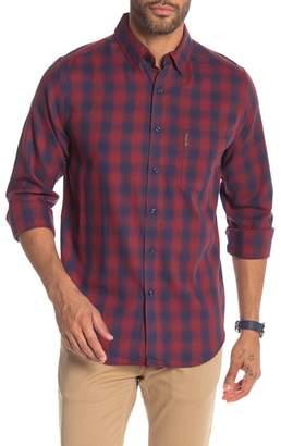 Ben Sherman Ombre Plaid Print Shirt