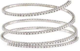 Neiman Marcus Diamonds 14k Gold Flexible Diamond Wrap Bangle, 3tcw