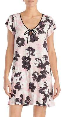 Kate Spade Floral Ruffle Tied-Keyhole Chemise