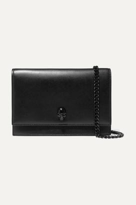 Alexander McQueen Embellished Leather Shoulder Bag - Black