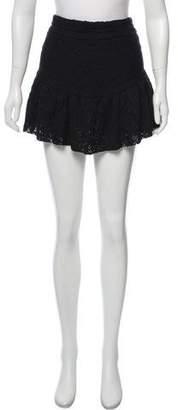 IRO Embroidered Mini Flare Skirt