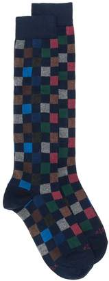 Altea square-patterned long socks