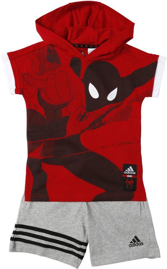 Spiderman Cotton Jersey T-Shirt & Shorts