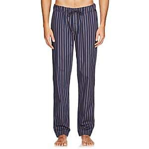 Hanro Men's Night & Day Striped Cotton Lounge Pants-Blk. stripe