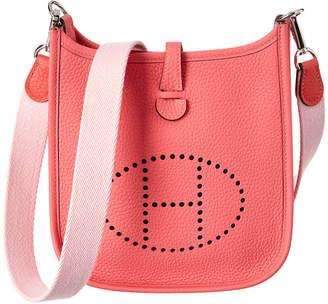 Hermes Pink Clemence Leather Evelyne I Tpm