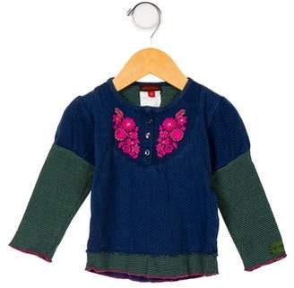 Catimini Girls' Embroidered Patterned Top