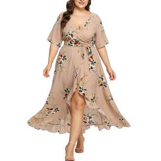 abc9f9c2868 BOLUOYI 2019 Dresses Women Plus Size Summer