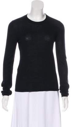 Miu Miu Cashmere-Blend Long Sleeve Sweater