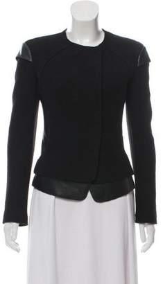 Neil Barrett Leather-Trimmed Wool Jacket