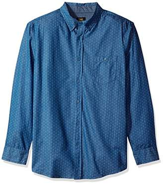 Lee Men's Long Sleeve Chambray Button Down Shirt