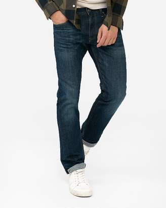 Express Slim Medium Wash Selvedge Stretch Jeans