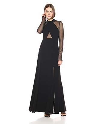BCBGMAXAZRIA Azria Women's Ellena Knit Cross Front Long Sleeved Dress,4