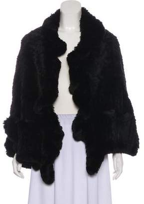 Yves Salomon Fur Short Sleeve Cardigan