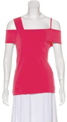 Jason Wu Sleeveless Asymmetrical Top Coral Sleeveless Asymmetrical Top