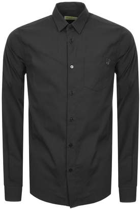 Versace Slim Fit Pocket Shirt Black