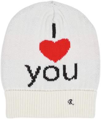 Raf Simons I Love You Jacquard Wool Beanie Hat