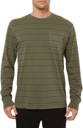 O'Neill Dinsmore Stripe Long Sleeve Pocket T-Shirt