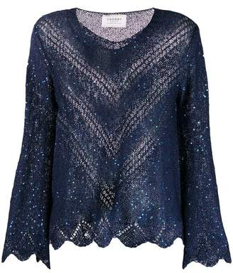 Snobby Sheep sequin caged knit sweater