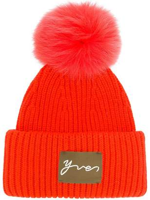 Yves Salomon Accessories pom pom beanie hat