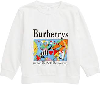 Burberry Patchwork Graphic Long Sleeve Tee
