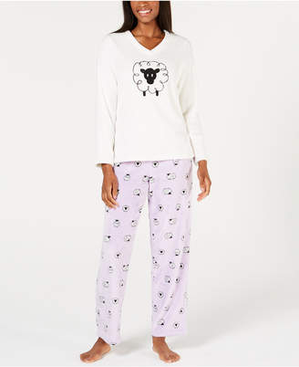 Charter Club Plush Pajama Set